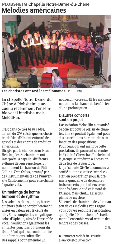 2012-05-18 Concert à Plobsheim (Article DNA)