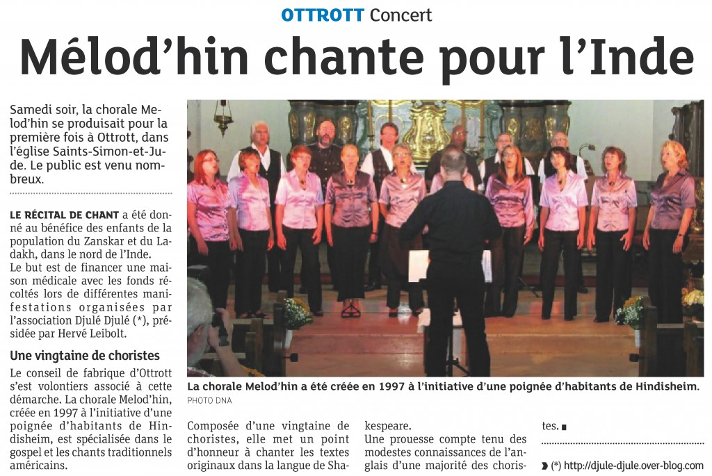 2013-06-12 Concert à Ottrott (Article DNA)