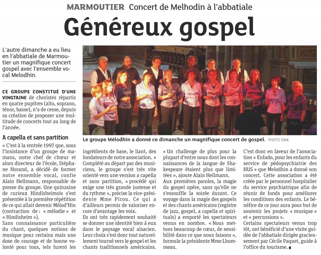 2013-07-03 Concert à Marmoutier (Article DNA)