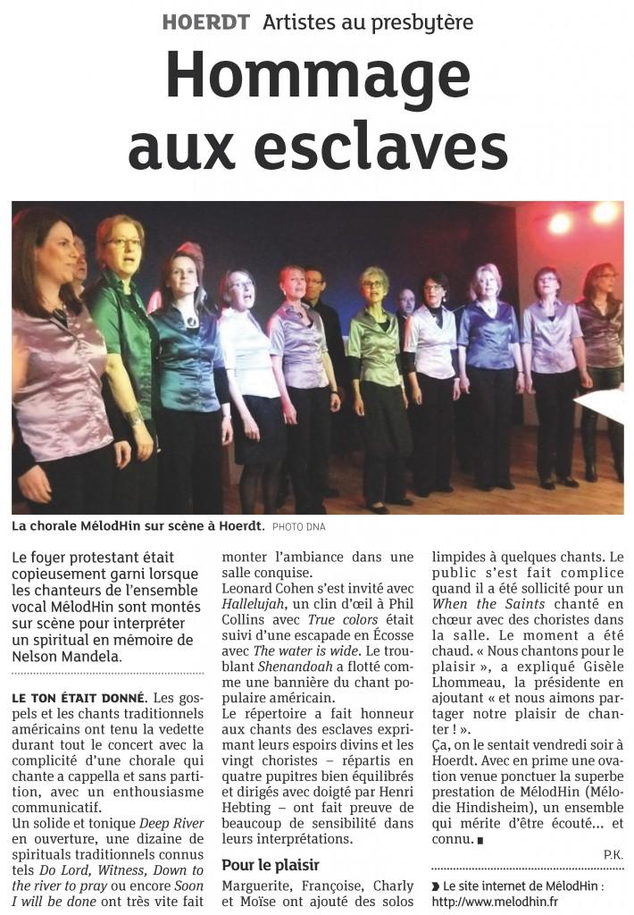 2014-03-23 Hoerdt - Hommage aux esclaves (Article DNA)